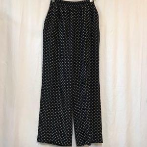Club Monaco silk elastic waist wide leg pants
